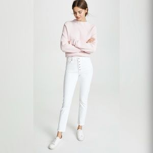 COH Olivia Exposed Fly High Rise Slim Ankle Jeans
